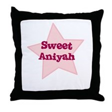 Sweet Aniyah Throw Pillow