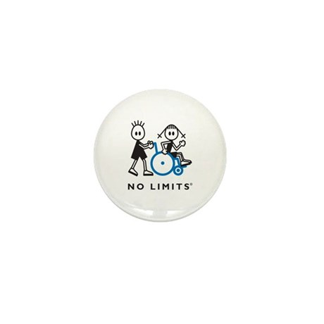Boy Pushes Disabled Girl Mini Button (10 pack)