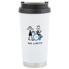 Girl Pushes Disabled Boy Ceramic Travel Mug