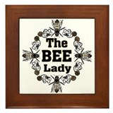 Bee Lady Framed Tile