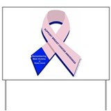 Male Breast Cancer Yard Sign