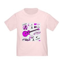 Pink Guitar Collage T