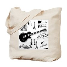 Guitar Collage Tote Bag