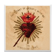 Heart of Jesus Tile Coaster