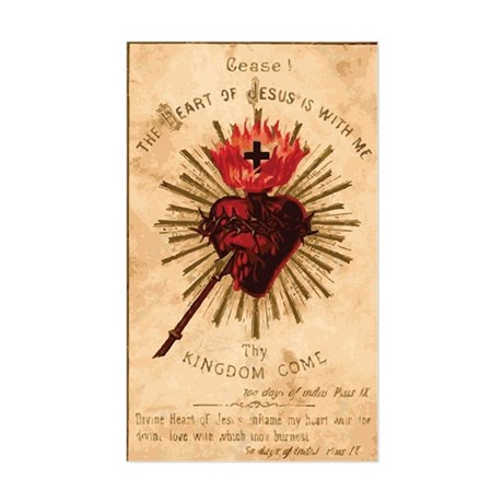 Sacred Heart of Jesus Sticker (Rectangle)