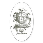 Freethinker Oval Sticker (10 pk)