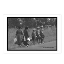 Amish Walkers 5 Postcards (Package of 8)