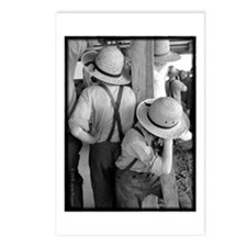 Amish Boys Hats Postcards (Package of 8)