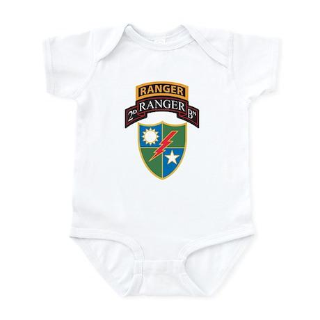 2nd Ranger Bn with Ranger Tab Infant Bodysuit