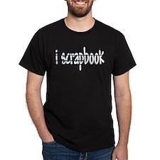 I Scrapbook Black T-Shirt