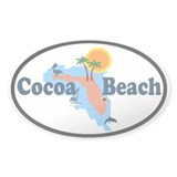 Cocoa Beach FL Oval Decal