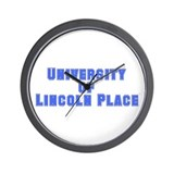 University of Lincoln Place Wall Clock