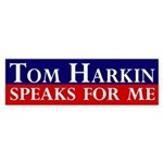 Tom Harkin Speaks for Me Bumper Sticker