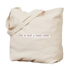 Not a Tame Lion w/Text Tote Bag
