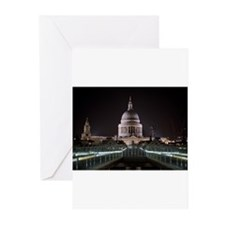 St Pauls Cathedral at Night Greeting Cards (Pk of