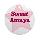 Sweet Amaya Ornament (Round)
