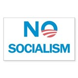 No Socialism Rectangle Decal