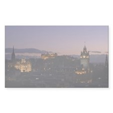 Illuminated Edinburgh Rectangle Sticker 10 pk)