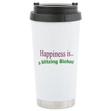 Happiness is a blitzing bichon Ceramic Travel Mug
