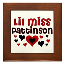 Lil Miss Pattinson Framed Tile