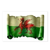 Antique Flag of Wales Postcards (Package of 8)