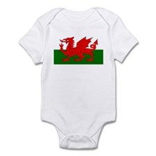 Flag of Wales (Welsh Flag) Infant Bodysuit