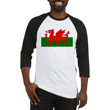 Flag of Wales (Welsh Flag) Baseball Jersey