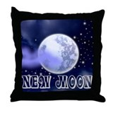 New Moon Night Sky Throw Pillow