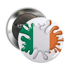 """Splash Flag of Ireland 2.25"""" Button"""