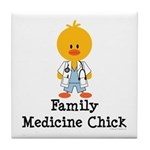 Family Medicine Chick Tile Coaster