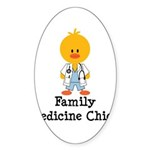 Family Medicine Chick Oval Sticker (10 pk)