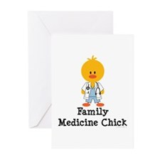 Family Medicine Chick Greeting Cards (Pk of 20)