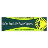 Pro-Life Peace Voters Bumper Sticker (50 pk)
