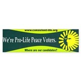 Pro-Life Peace Voters Bumper Car Sticker