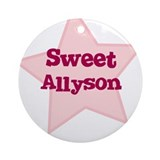 Sweet Allyson Ornament (Round)