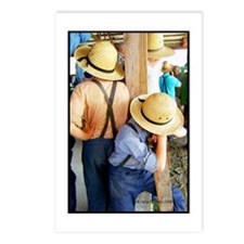 Amish Boys Hats Color Postcards (Package of 8)