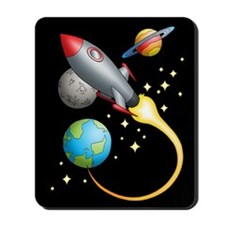 Rocket Trip Mousepad