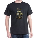 Master Chief Anchor Black T-Shirt