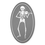 Skeleton Violin Oval Decal