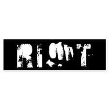 fist riot design Bumper Bumper Sticker