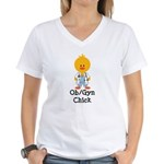 OB/GYN Chick Women's V-Neck T-Shirt