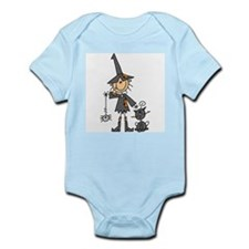 Witch and Cat Infant Bodysuit