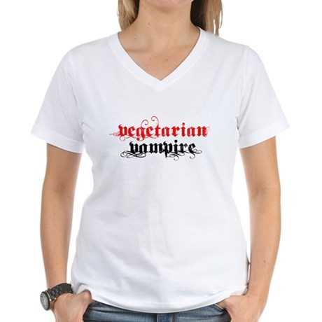 Vegetarian Vampire Women's V-Neck T-Shirt