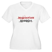 Vegetarian Vampire Women's Plus Size V-Neck T-Shir