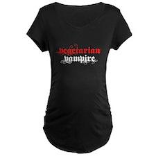 Vegetarian Vampire Maternity Dark T-Shirt