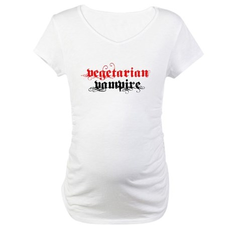 Vegetarian Vampire Maternity T-Shirt
