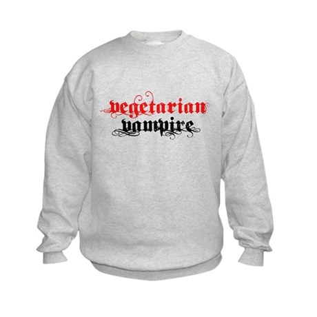 Vegetarian Vampire Kids Sweatshirt