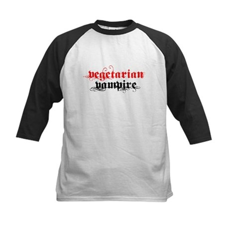 Vegetarian Vampire Kids Baseball Jersey