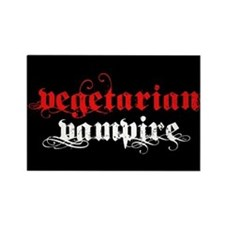 Vegetarian Vampire Rectangle Magnet