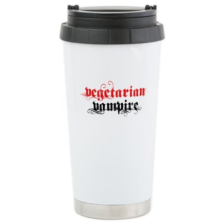 Vegetarian Vampire Ceramic Travel Mug
